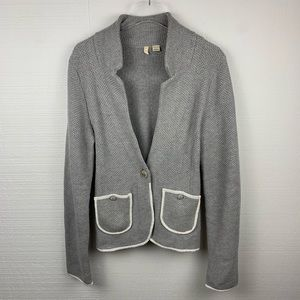 Anthropologie Moth Gray Button Front Cardigan